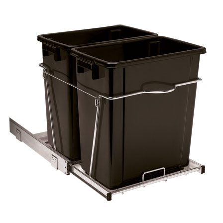 34 qt. Double Roll-Out Trash Can