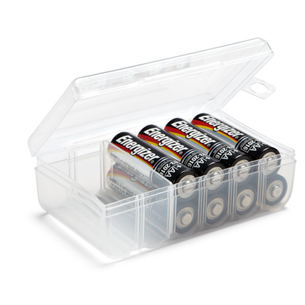 AA Battery Storage Container