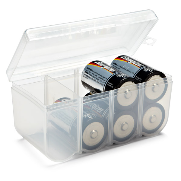 D Battery Storage Container