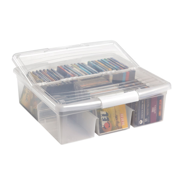 Large Media Box Clear