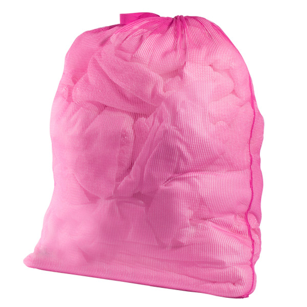 Mesh Laundry Bag Hot Pink