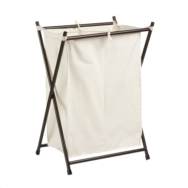 Double Folding Hamper Bronze
