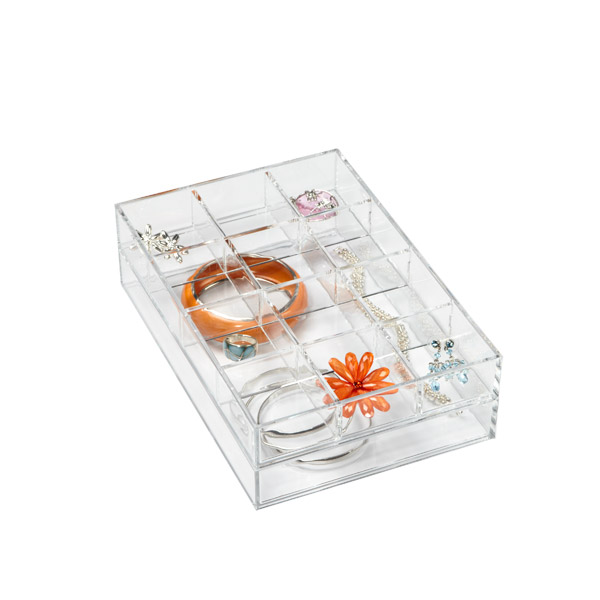 Clear Acrylic Small Stackable Trays The Container Store