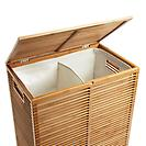 Zen 2-Section Laundry Hamper Bamboo