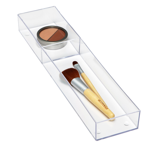 Makeup Stax Bottles & Brushes Tray Clear