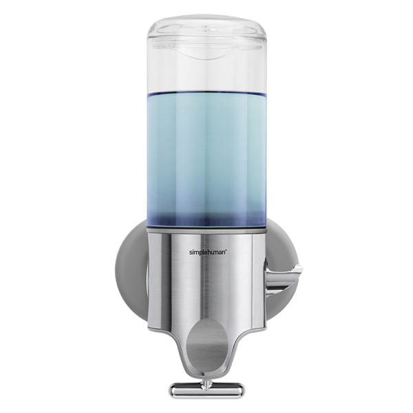 Simplehuman wall mounted shampoo soap dispensers the for Distributeur savon mural