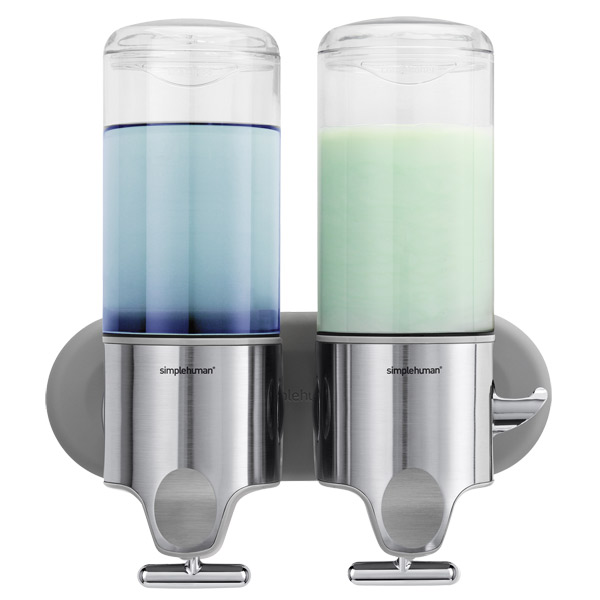 simplehuman Twin Shampoo & Soap Dispenser