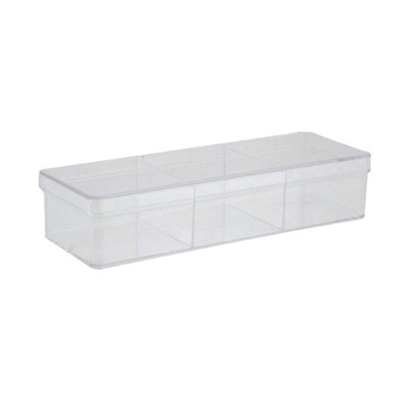 3-Compartment Rectangle Clear