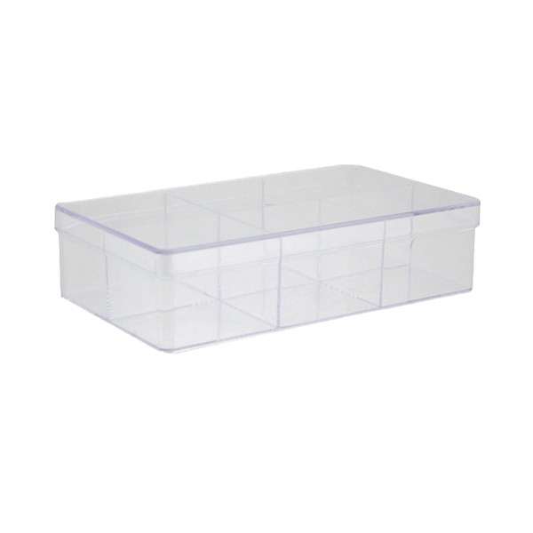 6-Compartment Rectangle Clear