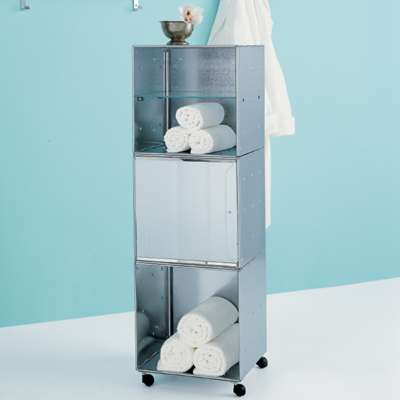 Galvanized QBO Steel Cube Storage Tower | The Container Store