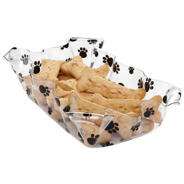 Rectangular Paw Prints Basket Black