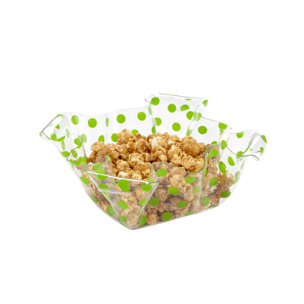 Square Dots Basket Lime