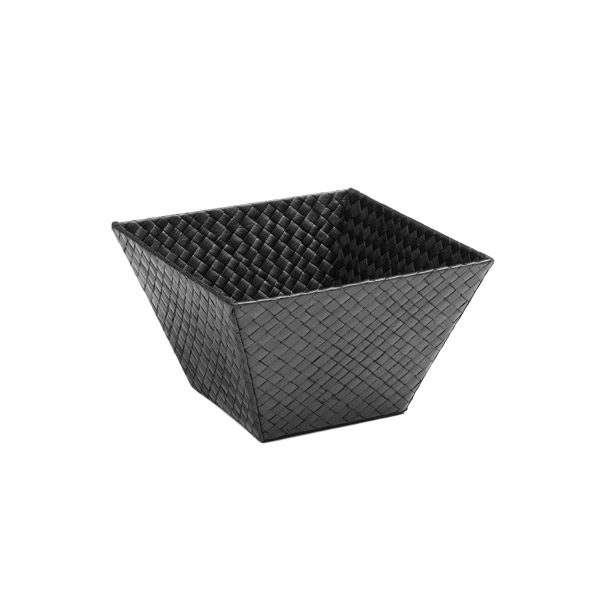 Small Square Pandan Basket Black