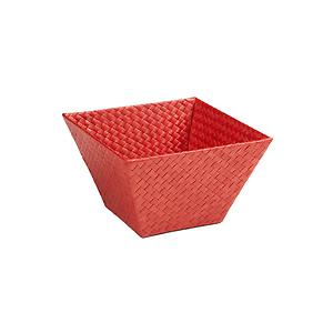 Small Square Pandan Basket Red