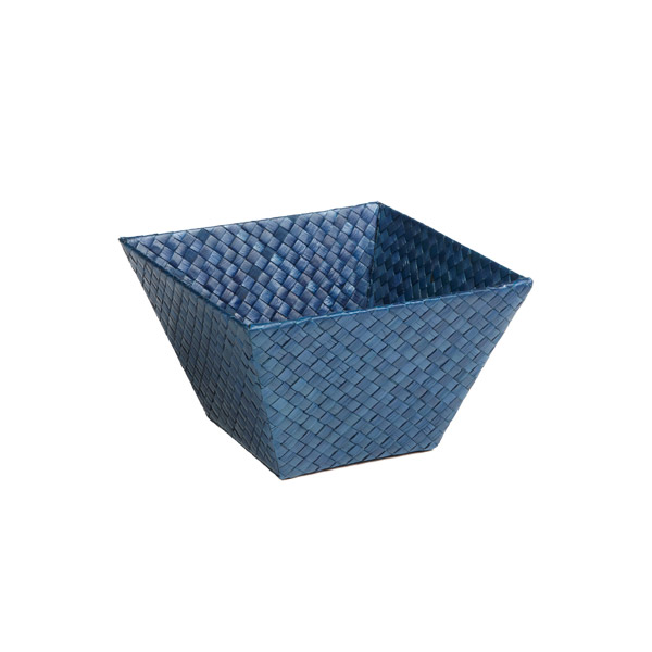 Small Square Pandan Basket Indigo