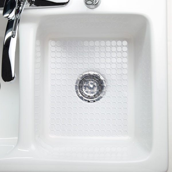 Kitchen Sink Mats Interdesign clear circo sink mat the container store interdesign clear circo sink mat workwithnaturefo