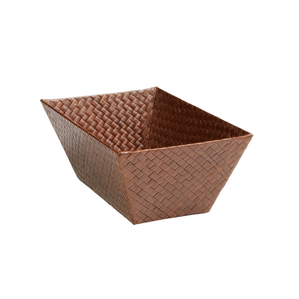 Small Rectangular Pandan Basket Sienna