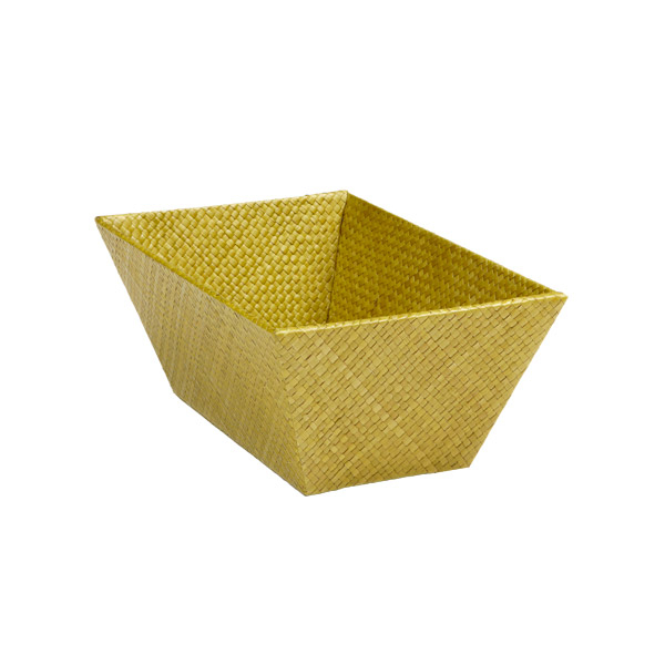 Small Rectangular Pandan Basket Olive