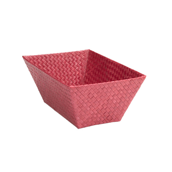 Small Rectangular Pandan Basket Fuchsia