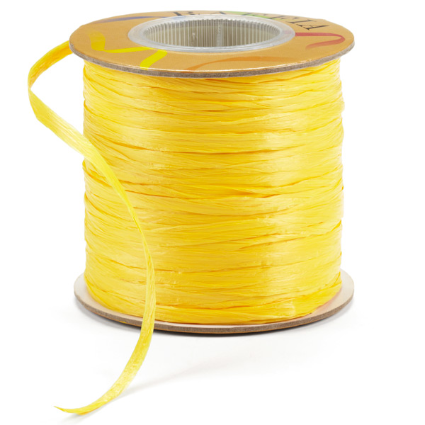 Raffia Ribbon Matte Yellow
