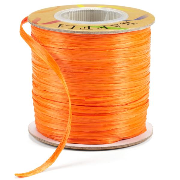 Raffia Ribbon Matte Orange