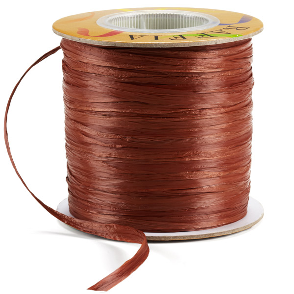 Raffia Ribbon Matte Chocolate