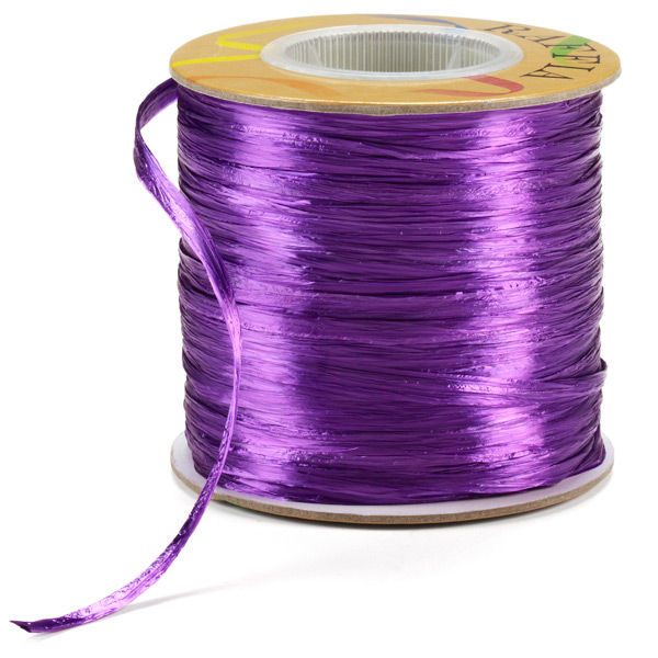 Raffia Ribbon Pearl Purple