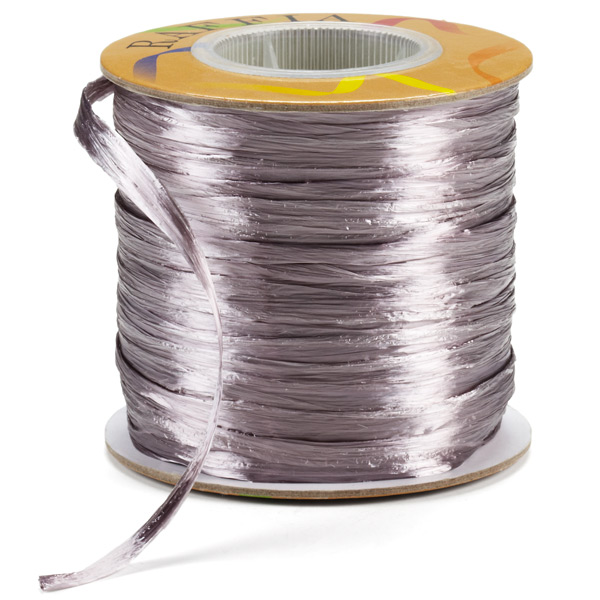 Raffia Ribbon Pearl Grey