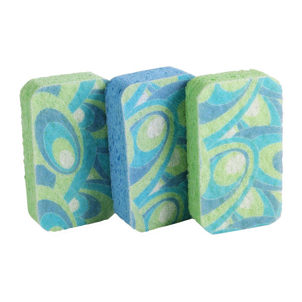 Scrubby Sponges Blue/Green Pkg/3