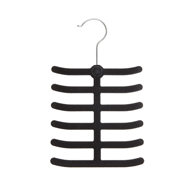 Huggable Tie & Belt Hanger Black Pkg/2