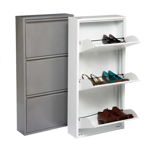 Delicieux 3 Drawer Shoe Cabinet