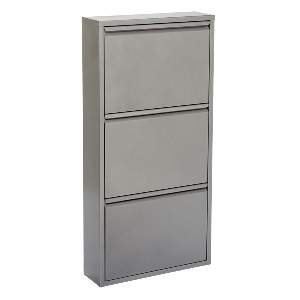 3-Drawer Shoe Cabinet Platinum