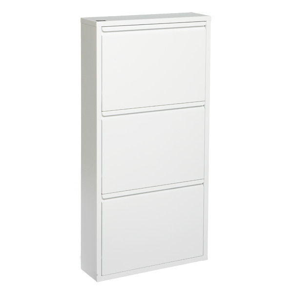 3-Drawer Shoe Cabinet White