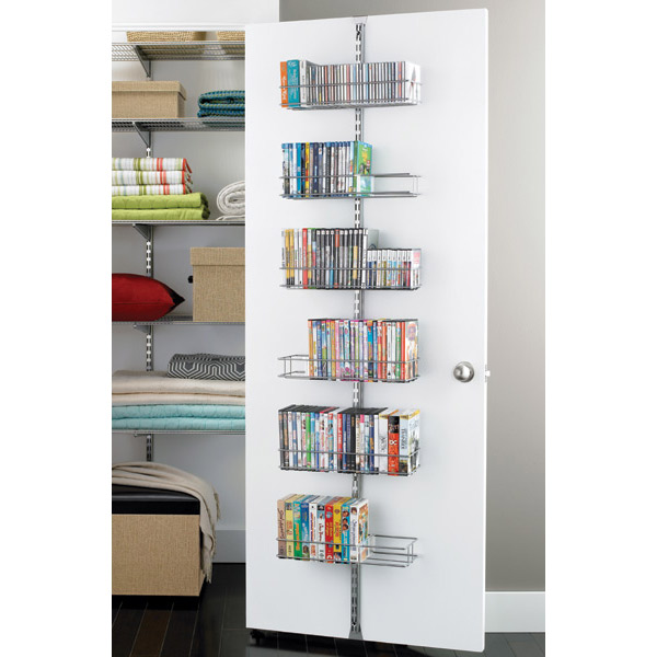 elfa Door & Wall Media Rack Platinum