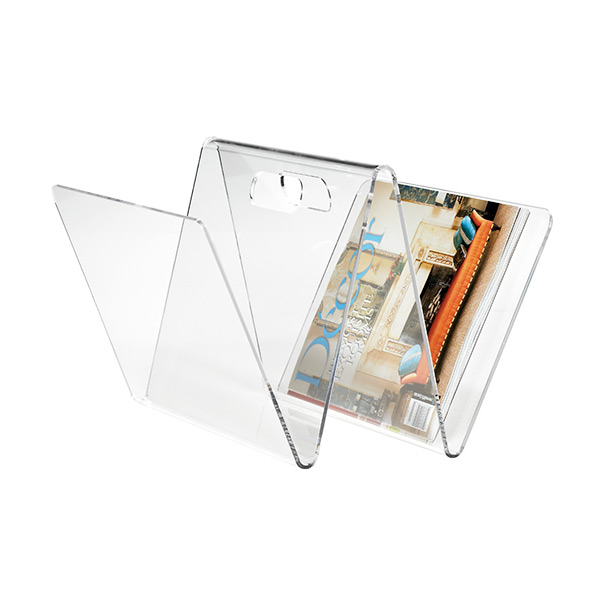 W Magazine Rack Clear