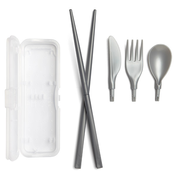 Klipo Cutlery Set Clear/Silver