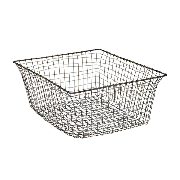 ... Large Marche Basket Rustic Steel ...