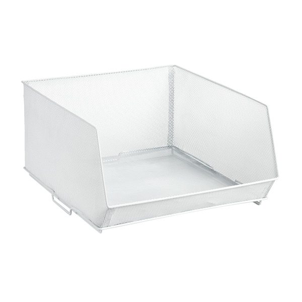 Large Mesh Stacking Bin White