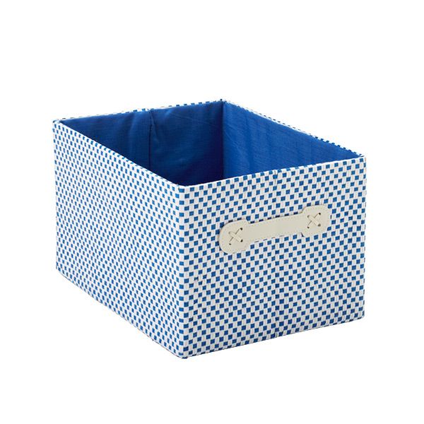 Small Gingham Bin Blue