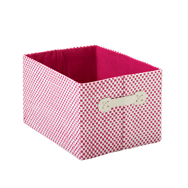 Small Gingham Bin Pink