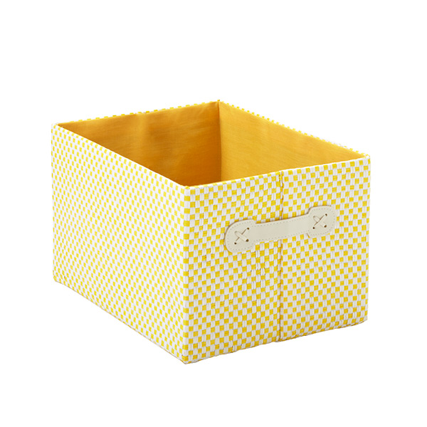 Small Gingham Bin Yellow