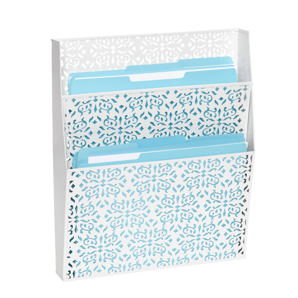 Brocade Wall File White