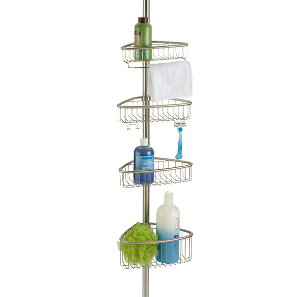 InterDesign Forma Stainless Steel Tension Pole Shower Caddy | The ...