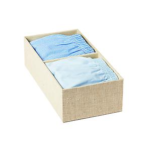 Narrow 2-Section Drawer Organizer Linen