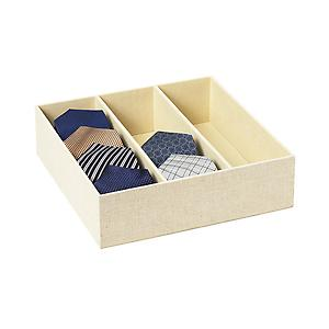 3-Section Drawer Organizer Linen