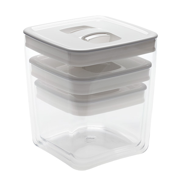 Click Clack® Cube White Lid Set of 3