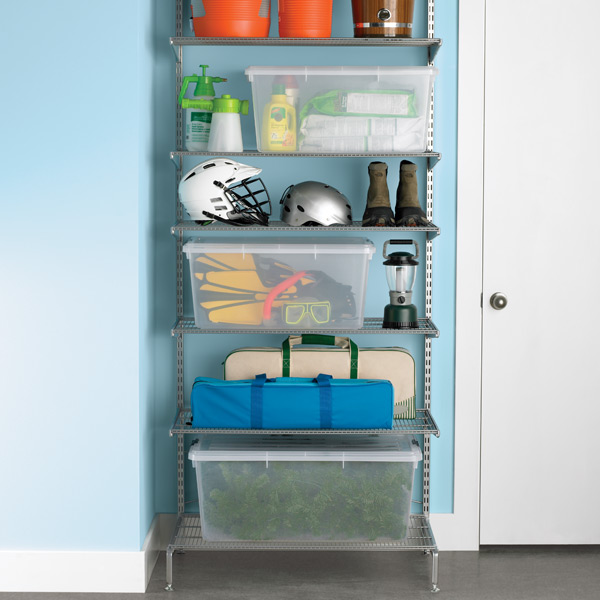 elfa freestanding Out-of-Season Storage Platinum