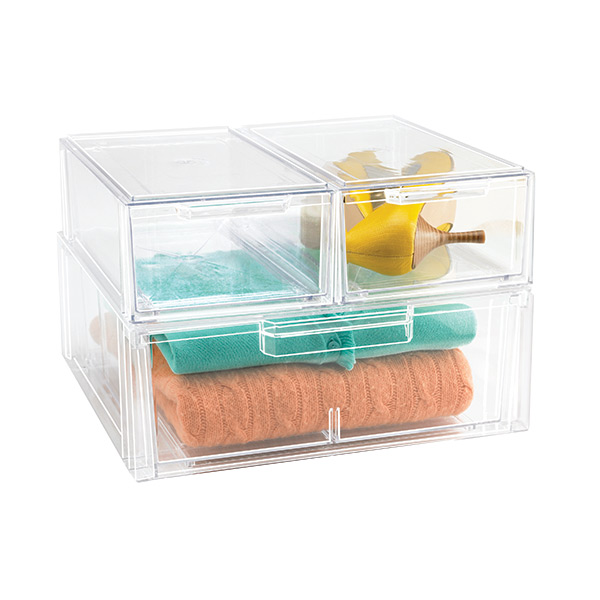 Clear Stackable Shirt Accessory Drawer