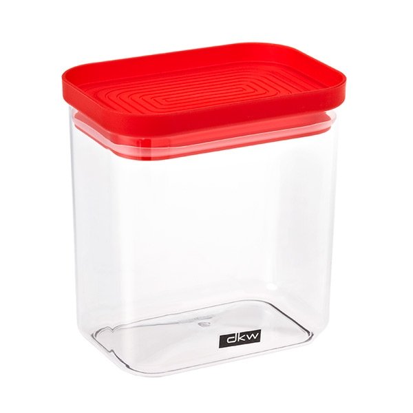 38 oz. Rectangle Canister Red Lid