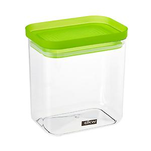 38 oz. Rectangle Canister Green Lid